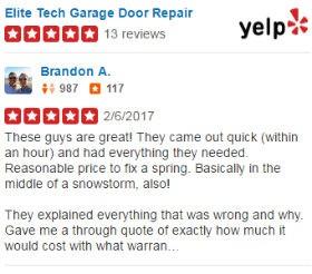 Yelp Reviews - Elite Tech Garage Door Repair