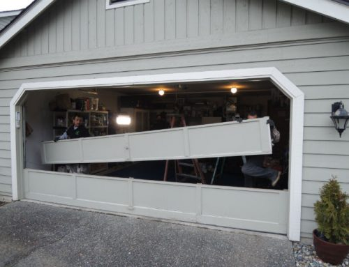 Garage Door Bent Panel Repair In Covington