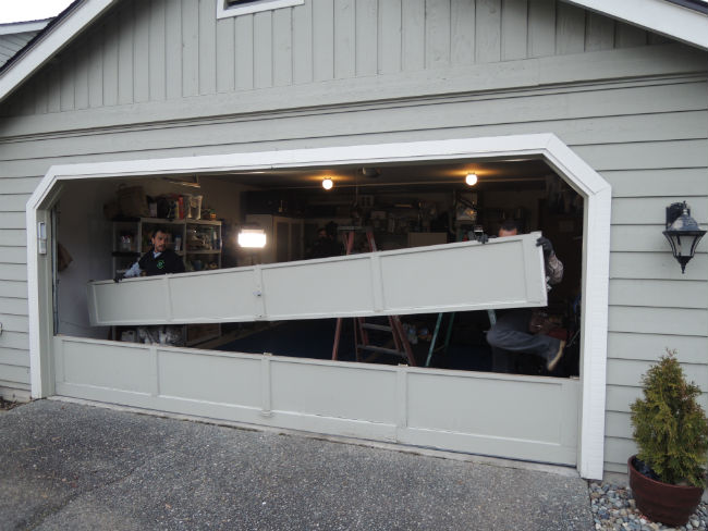 Garage Door Bent Panel Repair In Covington Wa Elite